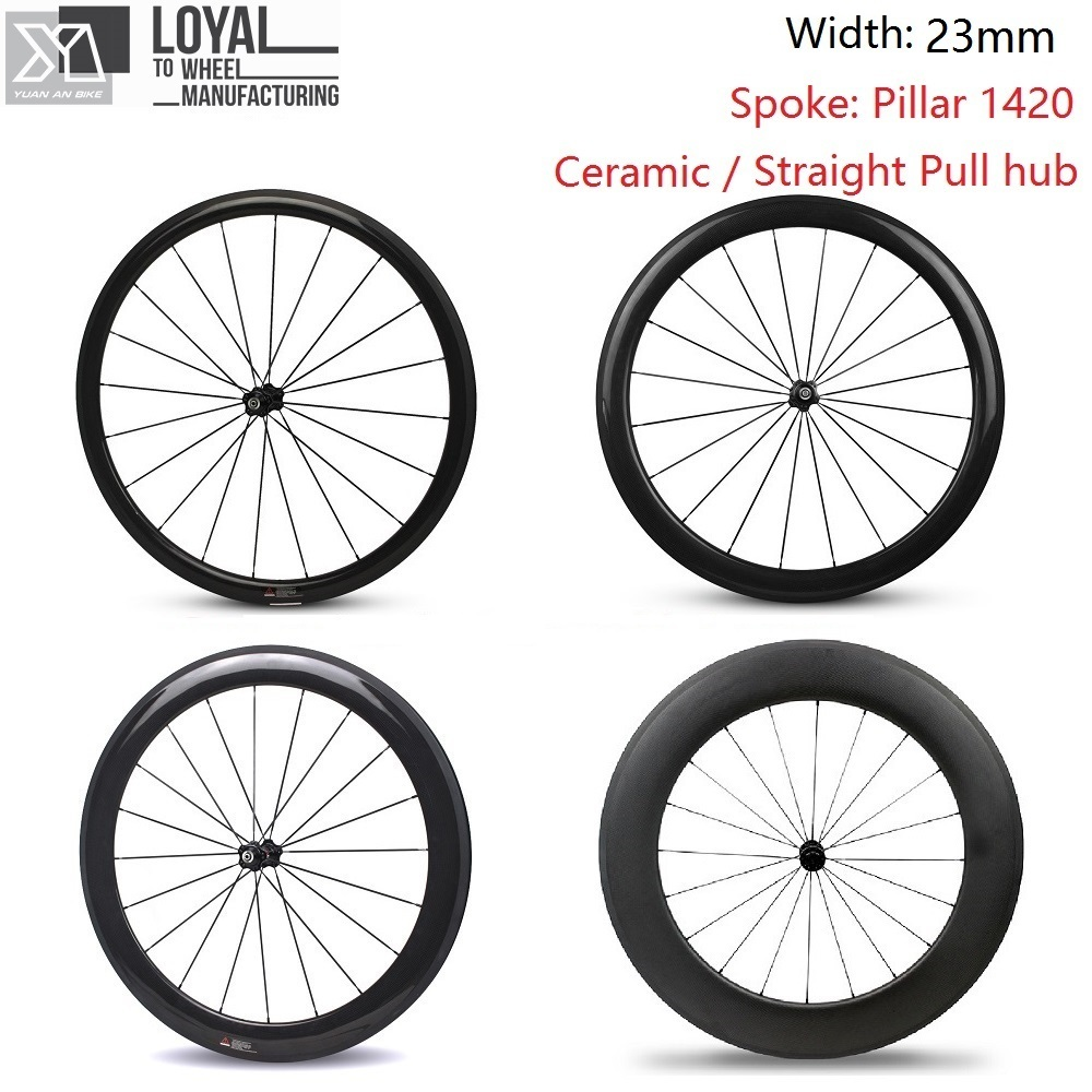 23mm Width 700c Road Bicycle Carbon Fiber Bike Wheel 38mm 50mm 60mm 88mm Wheelset With Taiwan Ceramic Straight Pull Hub west biking bike chain wheel 39 53t bicycle crank 170 175mm fit speed 9 mtb road bike cycling bicycle crank