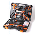 82 pcs hand tool set kit de ferramentas do agregado familiar kit viu chave de fenda martelo alicate chave de fita métrica