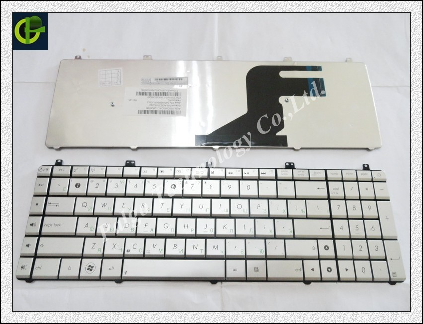 Russian Keyboard for ASUS N55 N57 N55S N55SF N55SL N75 N75SF N75SL N75S N75Y RU SILVER laptop keyboard цена