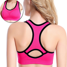 Women Sports Bra Tops Wireless Bra for Fitness Running Gym Cross Straps Push Up Padded Stretch Bras Yoga Top
