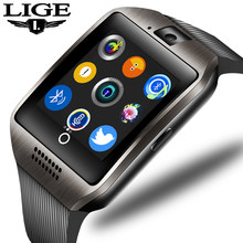 2019 LIGE New Bluetooth Smart Watch Connect Mobile Phone Music Play Alarm Clock Anti-lost Support TF SIM Camera Sport SmartWatch(China)