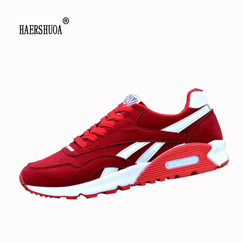 New Arrival Men Running Shoes Spring Outdoor Sport Trainers Athletic Sneakers Breathable Mesh Male Shoes Black Red Blue(China)