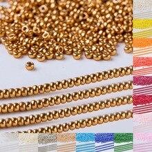 Taidian 11/0 Duracoat оцинкованная желтое золото Miyuki стекло бусины для изготовления ювелирных изделий 4203 10 грамм/мешок 950 шт.
