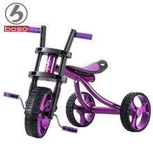 BOSO Simple Kids Tricycle withl PU Seat, Steel Frame Kids bicycle, Adjustable Seat children trike