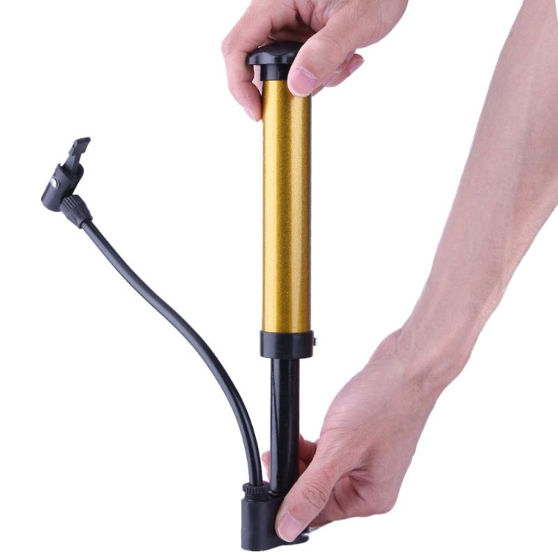 Pump Portable Bike Bicycle Air Mini Inflator Tire Cycling Ball Hand Road Pressur
