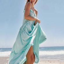 4268b7958 2019 المرأة مثير الدانتيل اللباس الصيف ضمادة عارية الذراعين قصيرة الوردي  شاطئ فساتين بلون السباغيتي حزام