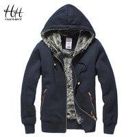 HanHent Super Thickened Brand Men Coats Faux Fur Fashion Mens Tracksuit Wear Polo Hoodie Winter Sweatshirt