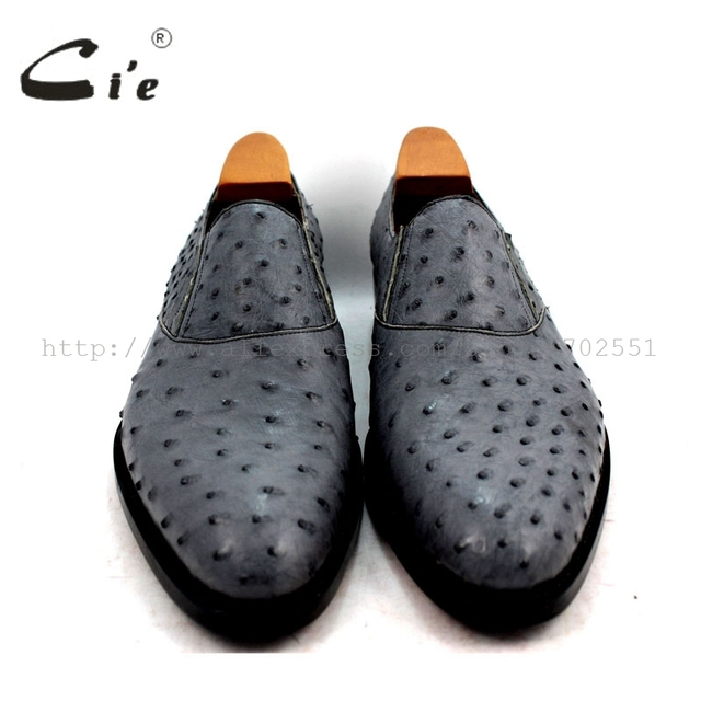 Ci'e – Genuine handmade ostrich skin leather men's shoe
