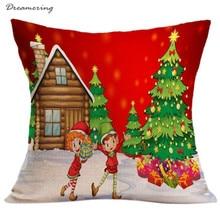 Fashion Pillow Case Sofa Waist Throw Cushion Cover Christmas Pillow Case Home Decor High Quality Free Shipping,Nov 24