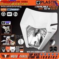 2017 Motorcycle Dirt Bike Motocross Supermoto Universal White Headlight For KTM SX EXC XCF SXF SMR
