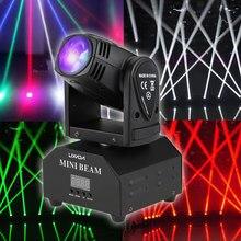 Lámpara LED de efecto de escenario para fiesta, luz Beam RGBW de 50W con cabeza móvil DMX512 activada por sonido de 11/13 canales para discoteca y fiesta KTV
