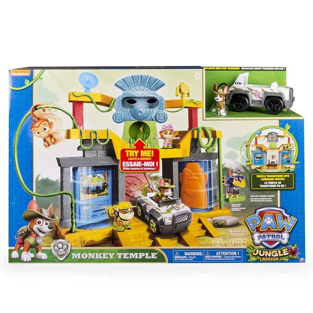 Original box! Genuine Paw Patrol Monkey Temple Playset tracker Everest ryder apollo Action Figure Vehicle Kids Anime canine toy Щенячий патруль