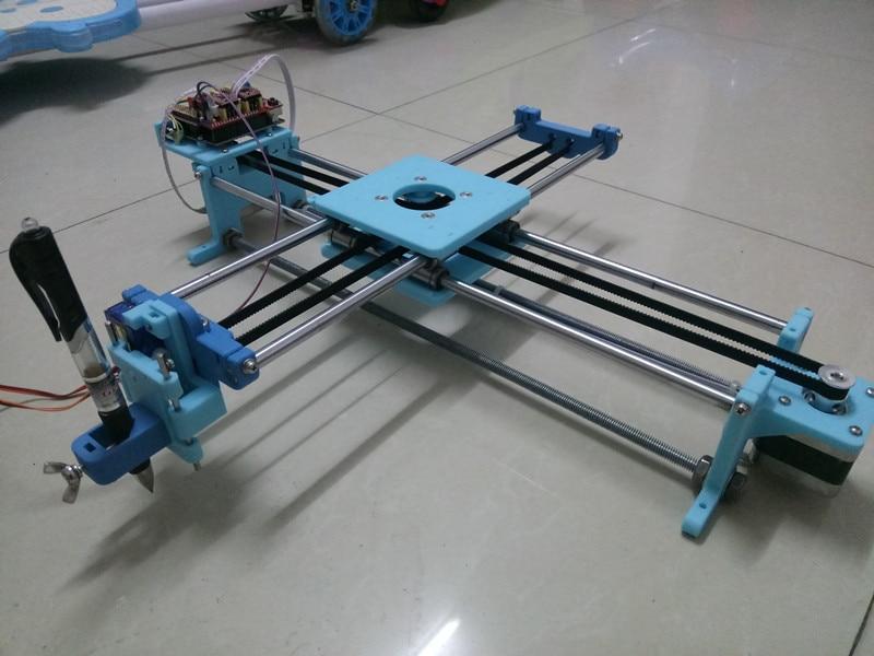 1set  Assembled   Drawing Machine Lettering Writing Robot Corexy XY-plotter Drawing Robot Kit Working Area 290x240mm Size