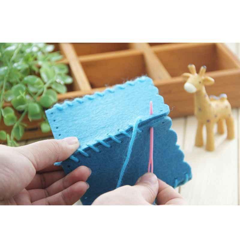 Niños juguete educativo de la primera infancia niños hecho a mano no tejido lápiz titular lindo DIY Craft Kit Pen Container