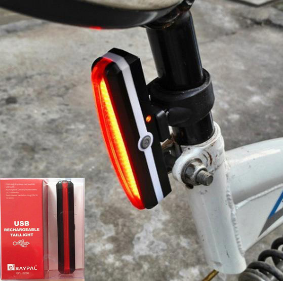Bike light rear taillights led usb rechargeable mountain bike bicycle lights tail lamp waterproof cycling accessories