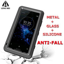 Брендовый чехол Love Mei для Sony Xperia XZ1 XZ2 XZ3 Compact XZ Premium XA2 ультра металлический противоударный чехол для телефона противоударный защитный чехол