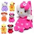 Olá Kitty de Pelúcia Do Bebê Mochilas Crianças Dos Desenhos Animados Mochilas Escolares Sacos Para Crianças Do Jardim de Infância Do Bebê Saco Menina Bonecas de Brinquedo Do Bebê