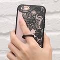 Ретро Цветок Case Для iPhone 6 6 s Задняя Крышка Для iPhone 6 6 s Плюс Палец Кольцо Держатель Телефона Случаях Transparent Case For iPhone 6