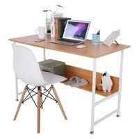 משרד ביתי מודרני עץ צבע עץ שולחן מחשב נייד מחשב שולחן כתיבה עם לוח תחתון מסאס escritorio מעמד נייד למחשב נייד