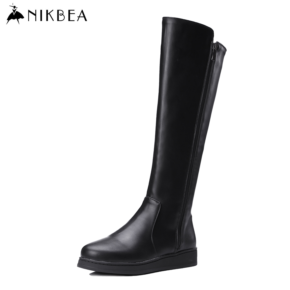 nikbea knee high boots large size 2016