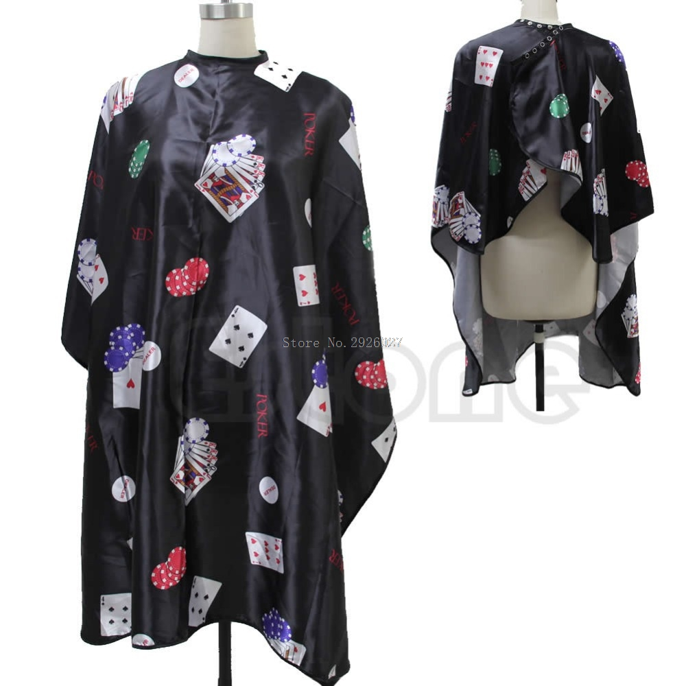 Salon Barber Black Poker Hairdressing Hairdresser Hair Cutting Cape Gown Clothes Hot -B118
