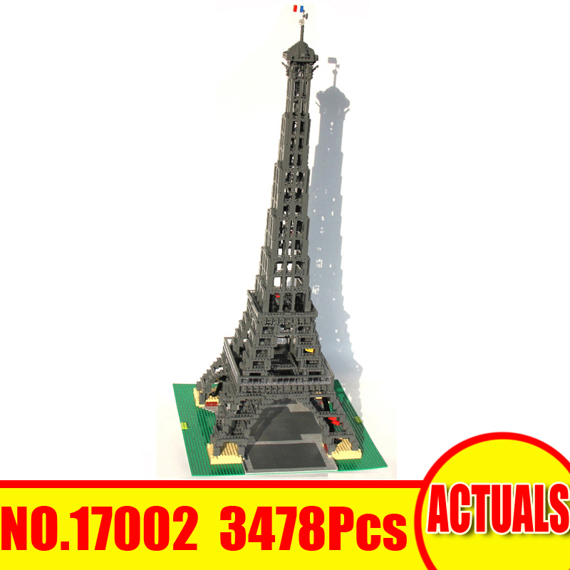 Lepin 17002 3478Pcs City Creator Street Figures Eiffel Tower Building Blocks Bricks Set Toys For Children Model Compatible 10181 compatible lepin city mini street view building blocks chinatown satin silk store with saleman figures toys for children gift
