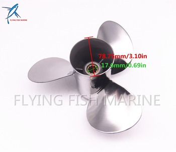 Boat Motor Stainless Steel Propeller 9 7/8x13-F for Yamaha 20HP 25HP 30HP  Outboard Engine 9 7/8 x 13 -F 664-45949-02-00