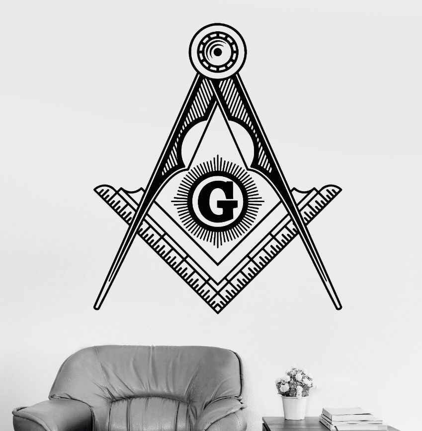 Wall Art Mural Removable Vinyl Masonic Symbol Wall Sticker