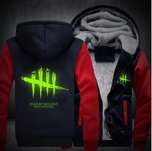 2018 NEW Men Women Dead by Daylight Luminous Jacket Sweatshirts Thicken Hoodie Coat Clot ...