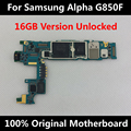 Original Official Motherboard For Samsung Galaxy Alpha G850F 16GB Unlocked With Chips IMEI OS Whole Mainboard Worldwide Use