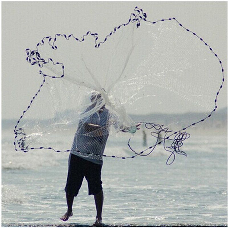 hand throw fishing net 2015 USA style cast net senna fish trap fishing net china pesca fishing network potes herramientas nylon