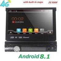 Универсальный 1 din Android 8,1 4 ядра dvd плеер gps Wifi BT Радио BT 2 ГБ Оперативная память 32 ГБ SD 16 ГБ ПЗУ 4 Гб SIM сети LTE SWC RDS CD