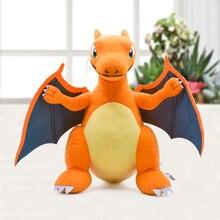 יפן אנימה Charizard מרכז מגה האבולוציה בפלאש צעצועי PP כותנה ממולא בעלי החיים ילדי קטיפה בובת מתנה 33cm