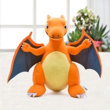 Japonya Anime Charizard merkezi Mega evrim peluş oyuncaklar PP pamuk dolması hayvan çocuk peluş bebek hediye 33cm