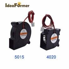 3D drukarki Reprap części chłodzenia wentylatora 2 Pin Dupont 50x50x15mm/40x40x20mm wentylator dmuchawa 12 V/24 V ogrzewany łóżko żarnik drukowanie chłodzenia