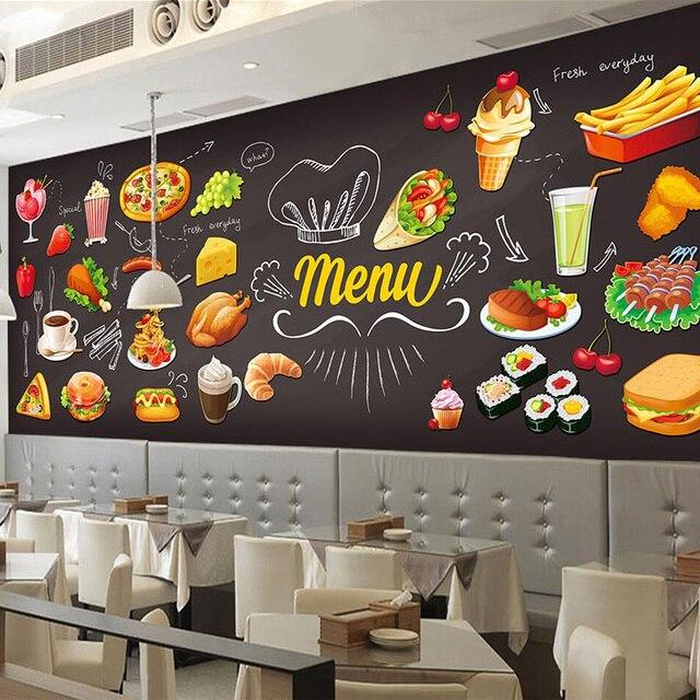 D Fast Food Room Wallpaper