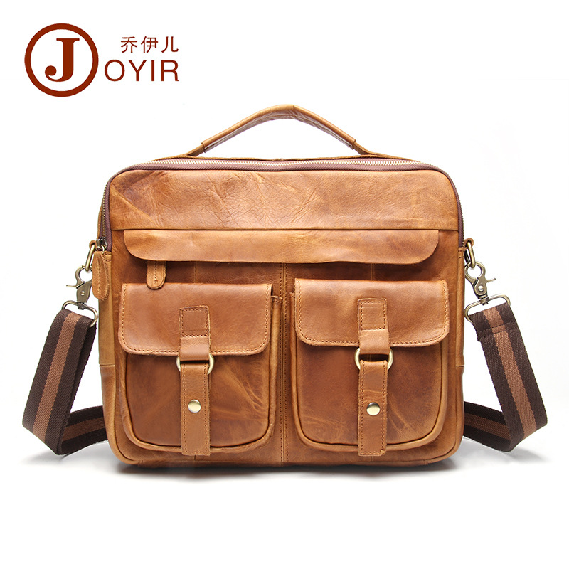 JOYIR Brand Genuine Leather Bag Men Bag Cowhide Men Crossbody Bags Men's Travel Shoulder Bags Tote Laptop Briefcases Handbag yishen genuine leather bag men bag cowhide men crossbody bags men s travel shoulder bags tote laptop briefcases handbags bfl 048
