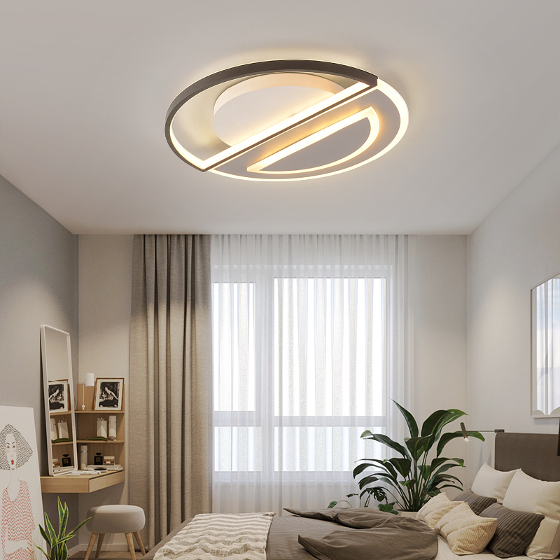 Plafonniers modernes lampe à LED pour salon chambre bureau couleur café monté en surface plafonnier déco livraison gratuite