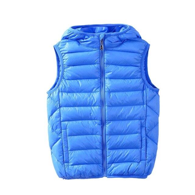 Зимний жилет детей милый мальчик без рукавов для того чтобы жилет толстовку Он может быть сжат для удобства переноски
