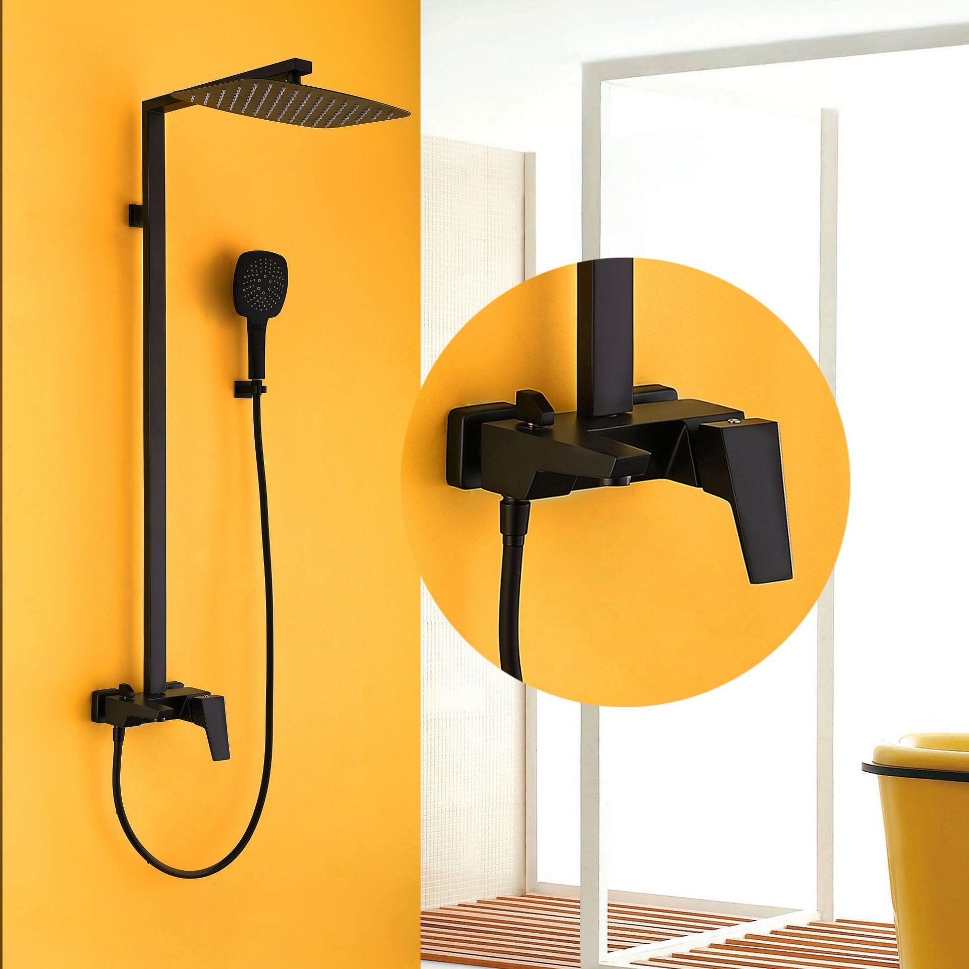 Nouveau robinet de douche de luxe haut de gamme robinet de douche chaude et froide robinet noir