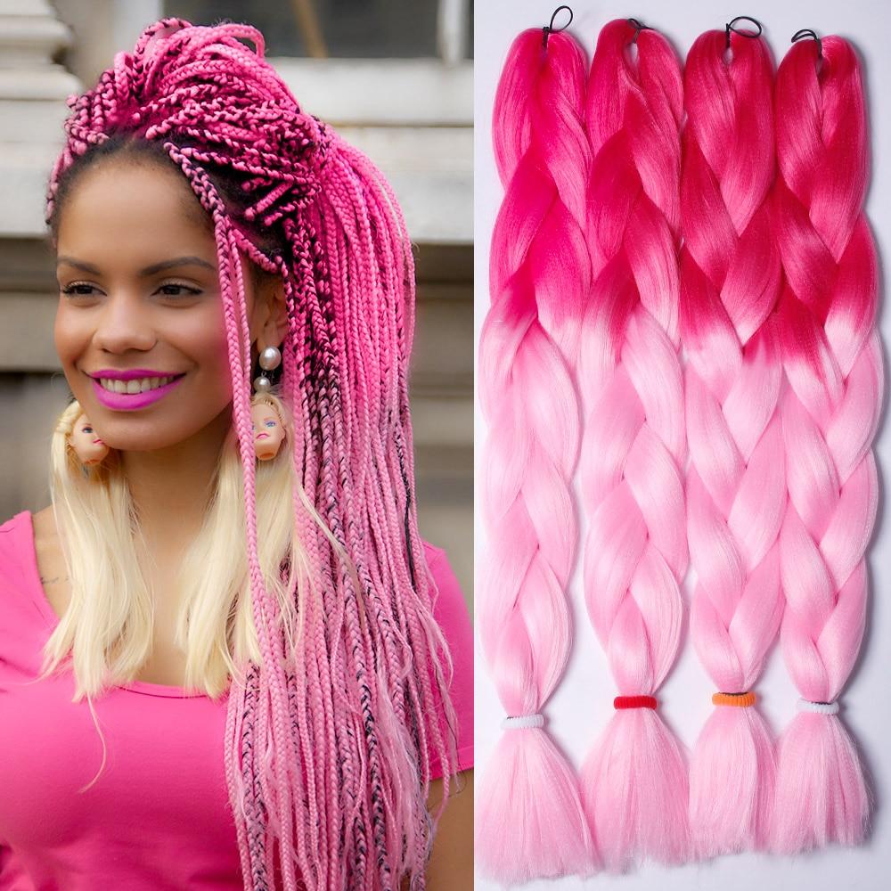 10pcs 24 Inch 100g Ombre Kanekalon Braiding Hair Synthetic ...