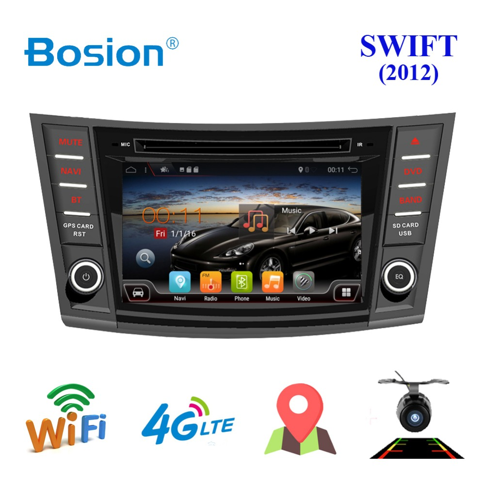 Bosion Android 7.1 Car Radio for SUZUKI SWIFT 2012 1024*600 Quad Core wifi Bluetooth video audio 2 din car dvd Multimedia player