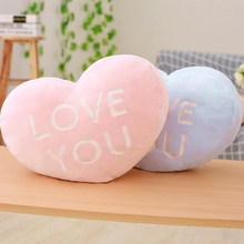 hot deal buy 1pc 40x30cm 2 patterns love cushions lovers pillow plush stuffed home decoration cushions couple pillows girlfriend's birth gift
