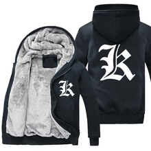 New Winter warm Anime Death Note hoodie Casual Thick men Jacket Coat