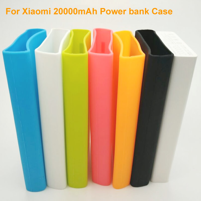 low priced 6a68a 1c8d0 US $9.5  Silicone Protective Sleeve Solid colored Cover for Xiaomi 20000mAh  Power Bank High Quality 20000 mAh External Battery Protector-in Phone ...