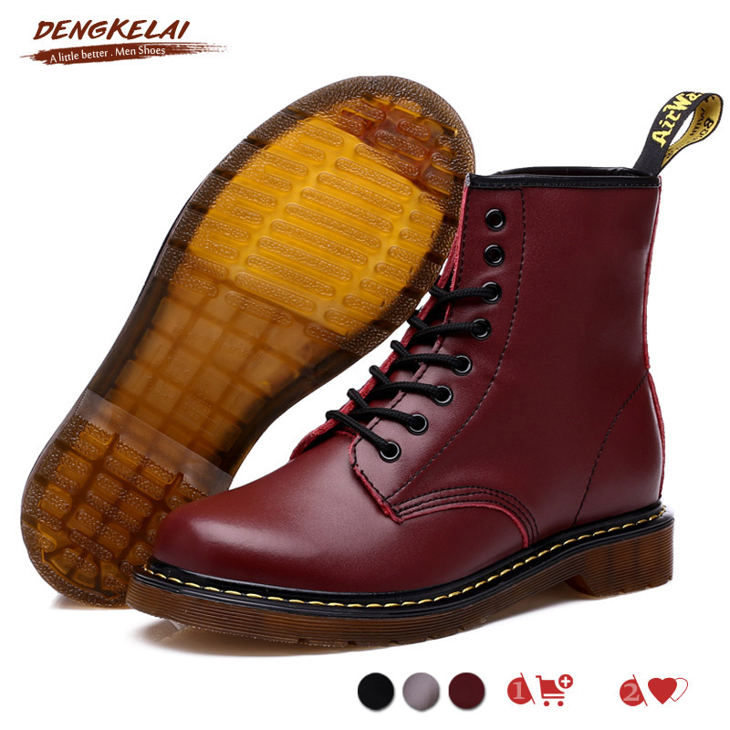 Dengkelai Model Males Girls Snow Boots Real Leather-based Winter Boot With Fur Heat Snug Male Ankle Sneakers Boots Martins