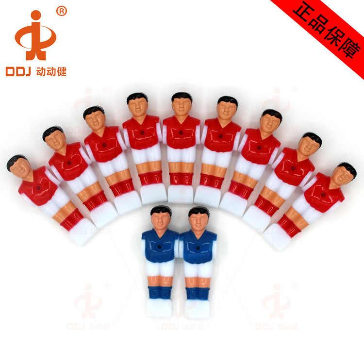 11 stks/set Mini Tafelvoetbalspel Games Voetbal machine pop Speelgoed Voetbal Tafel Speler Plastic Kickers Tafel Voetbal Speler (16mm)