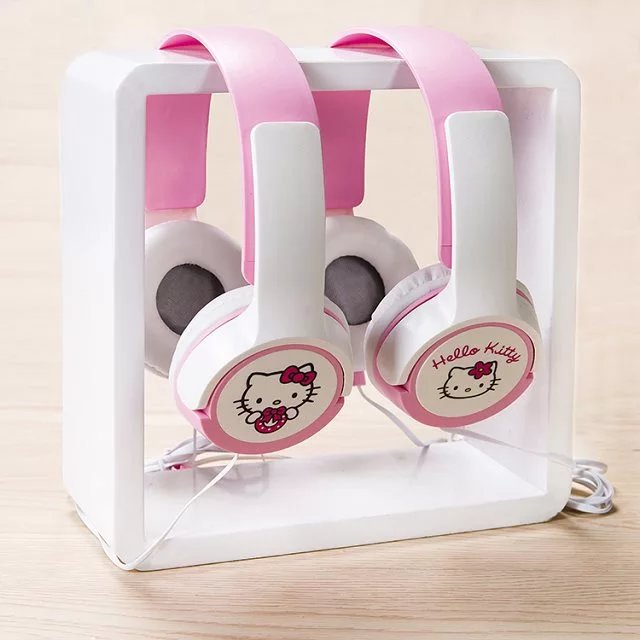 2017 buen regalo hello kitty wired auricular de la historieta 3.5mm enchufe de a
