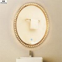 Светодиодный Кристалл Ванная комната зеркало свет Ванная комната круглые настенные светлое зеркало светильник Крытый декоративные светил