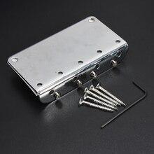 5X Silver Chrome 4 String Electric Bass Guitar Bridge + 5 Screws + Wrenche